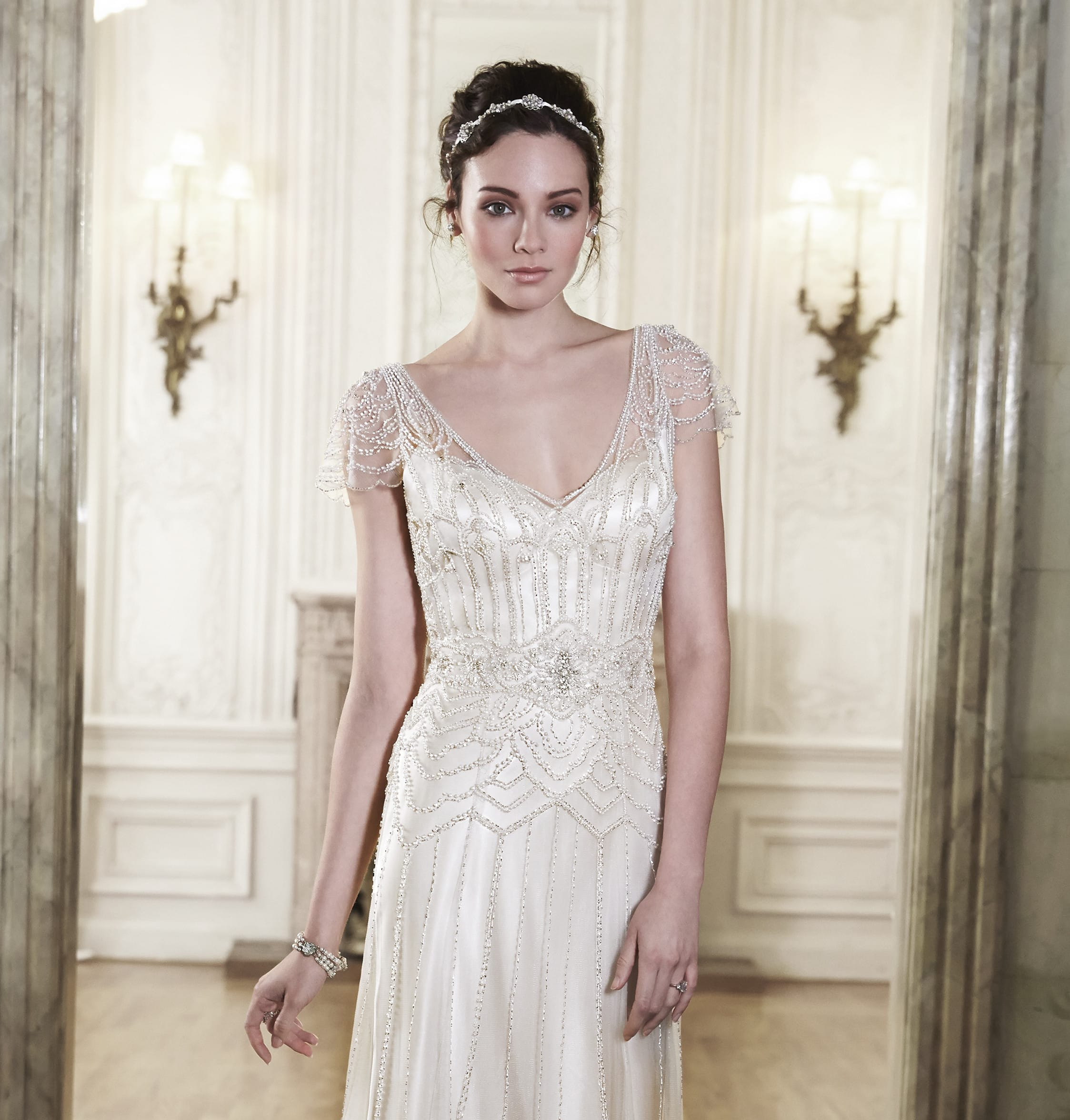 Vintage wedding dresses for The Great Gatsby Party - Ettia by Maggie Sottero