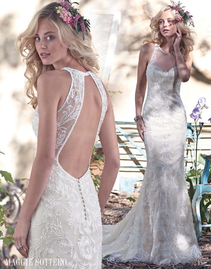 Open back lace wedding dress - Blaise by Maggie Sottero