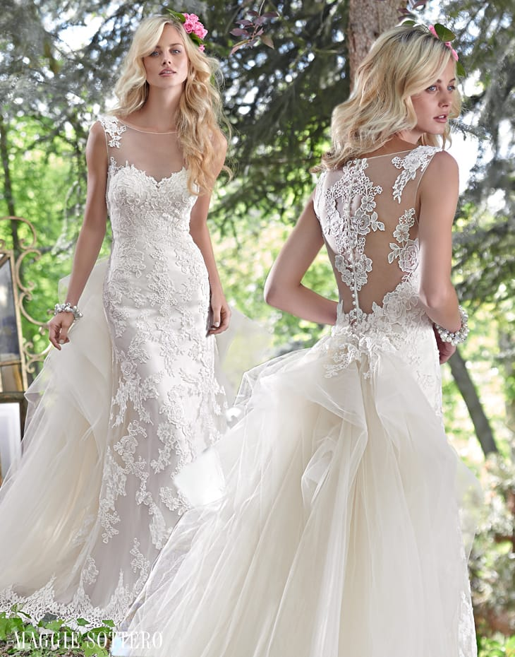 illusion back wedding dress - Jovi by Maggie Sottero