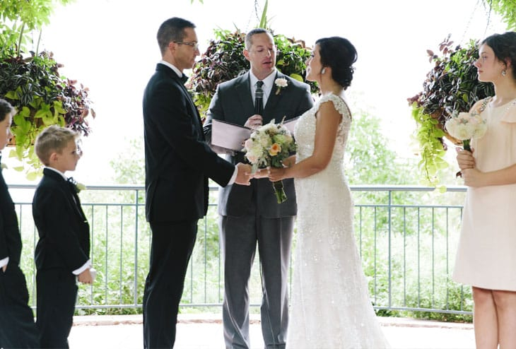 Romantic blush garden wedding from Maggie Bride Stephanie - wearing Simone by Sottero and Midgley #weddinginspiration #blushwedding