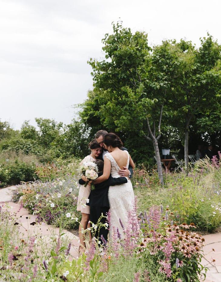 romantic garden wedding featuring Simone by Sottero and Midgley
