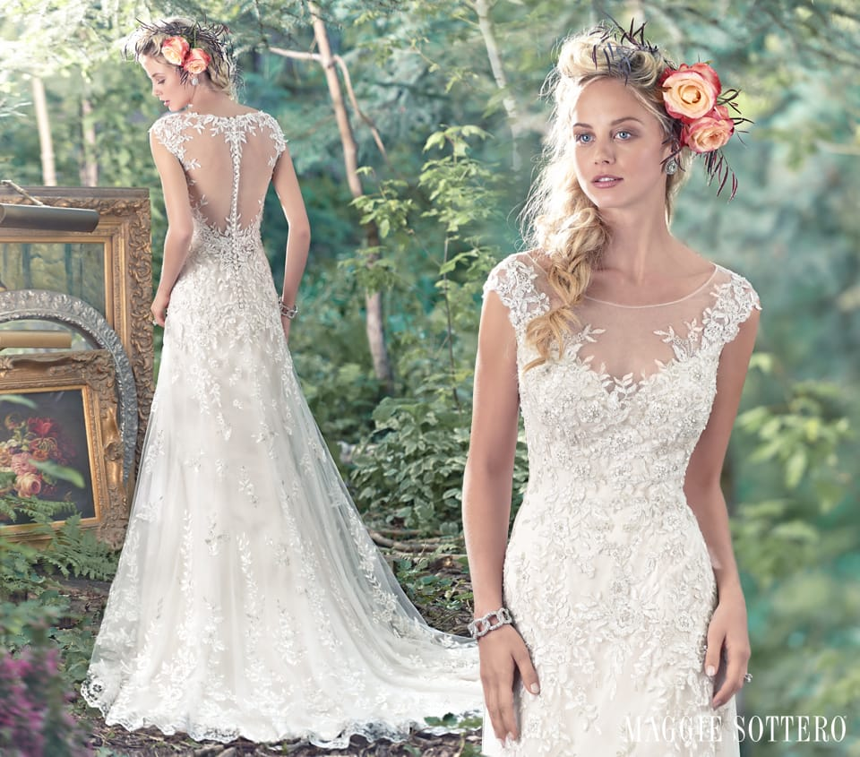 Ultra Romantic Floral Wedding Dresses: Romantic Wedding Dresses With Floral Details