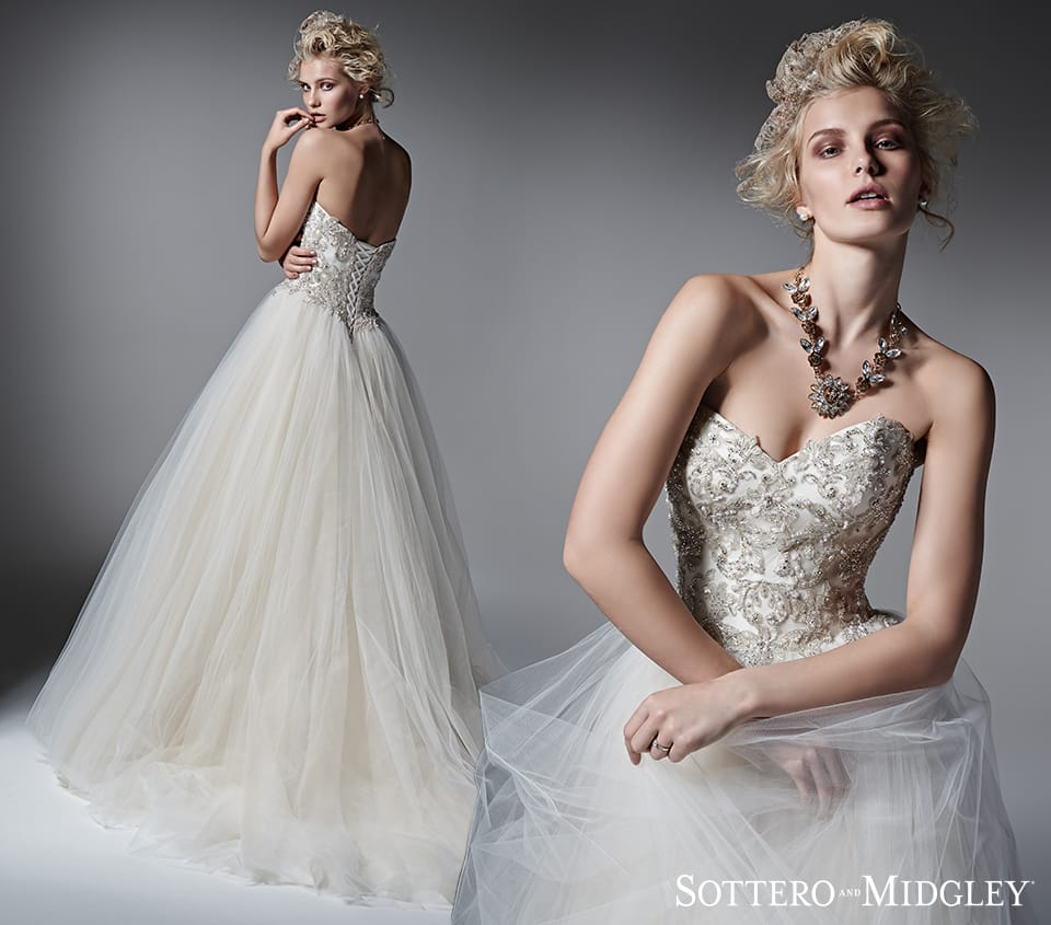 ballgowns with embellished bodices - Layla by Sottero and Midgley
