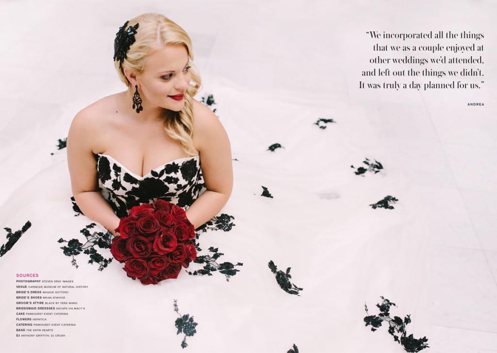 Rock 'n Roll Bride - Maggie Bride wearing Cosette by Maggie Sottero
