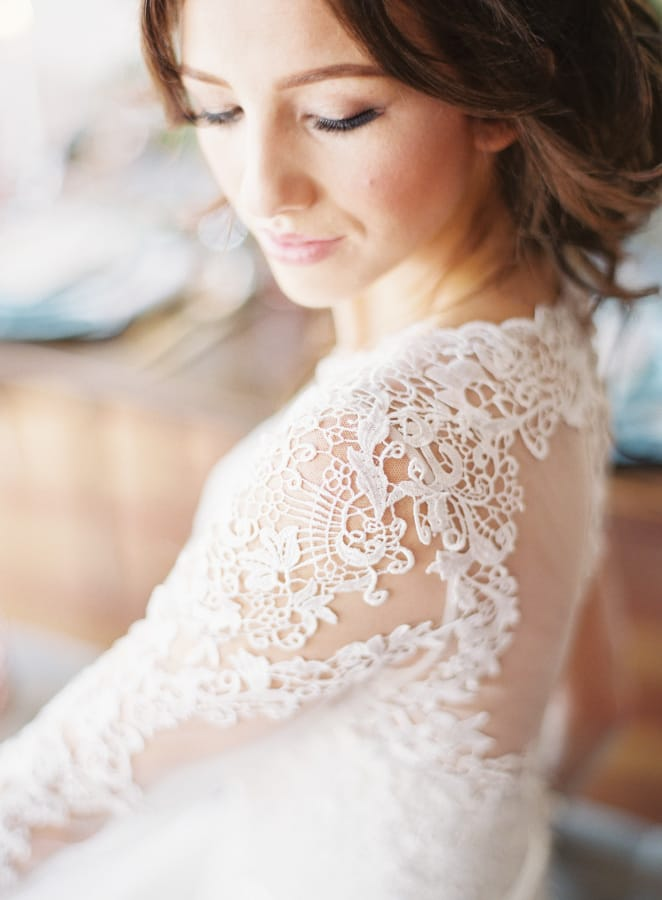 glamorous rose gold wedding inspiration - Vaughn wedding dress by Maggie Sottero