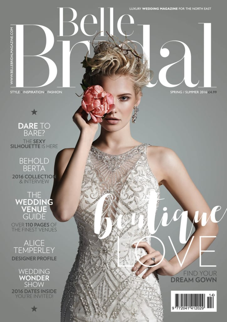 featured on the cover of Belle Bridal - Maui by Sottero and Midgley
