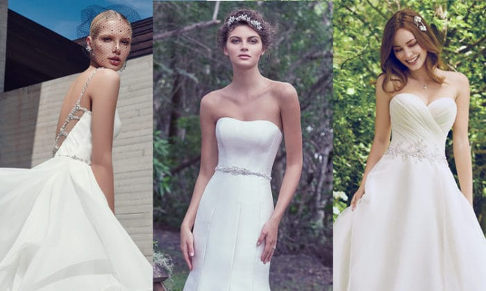 Simple wedding dresses from Maggie Sottero, Sottero and Midgley and Rebecca Ingram