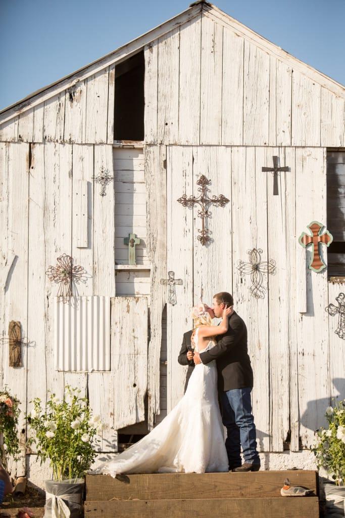 rustic barn wedding - Emma wedding dress in Kelsey & Noah Wedding