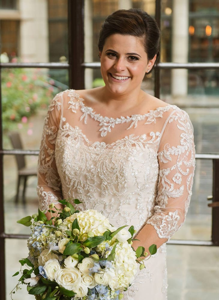 Get Featured as a Real Bride! Maggie Bride Jen wearing Verina by Maggie Sottero