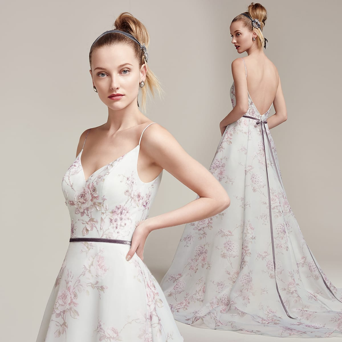 pastel and floral gowns - Kira by Sottero and Midgley