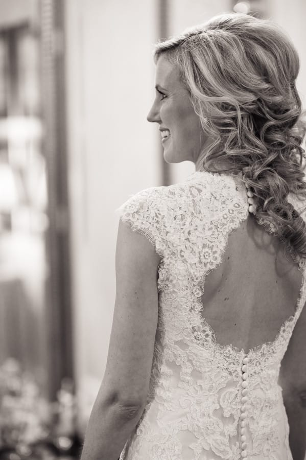 Get Featured as a Real Bride! Maggie Bride Lindsay wearing Bronwyn by Maggie Sottero