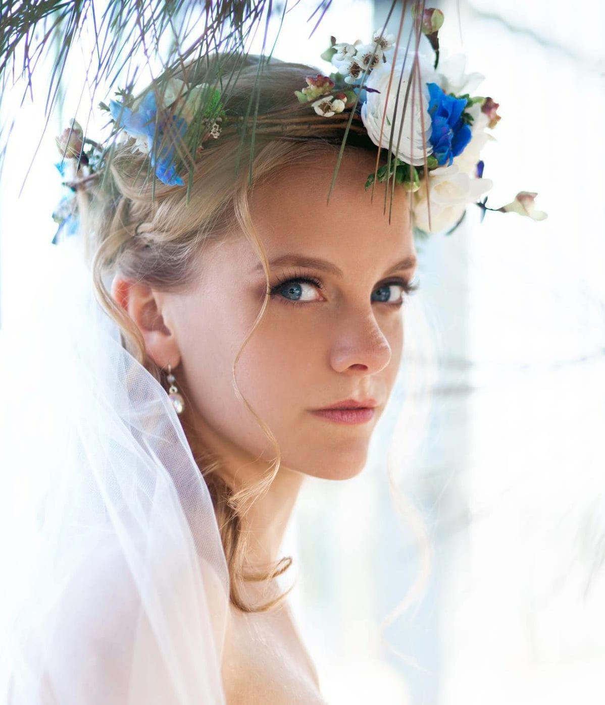 A flower crown for every bride - Classic Bride wearing Maggie Sottero