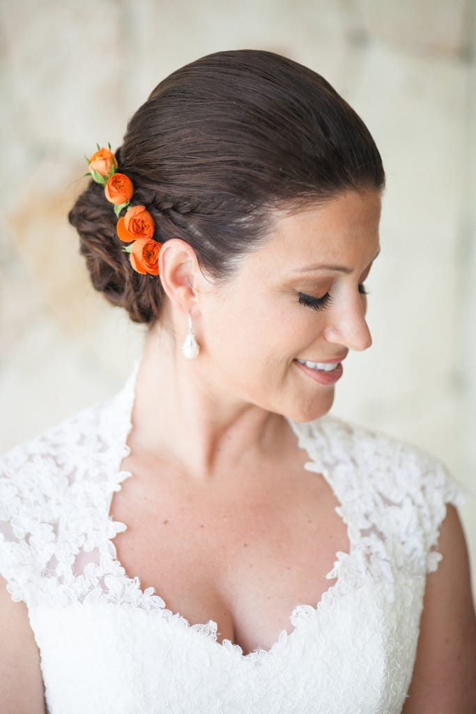 A Flower Crown for Every Bride -  Beach Bride wearing Maggie Sottero