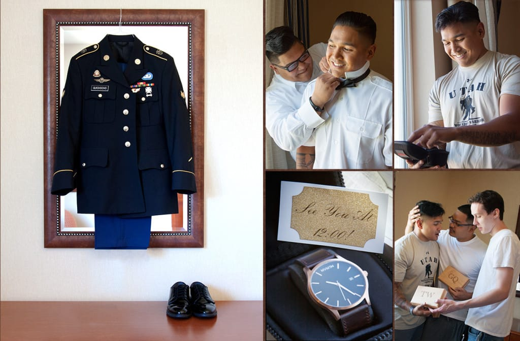 Memorial Day Wedding - Maggie Bride Kresta wore Serencia by Maggie Sottero