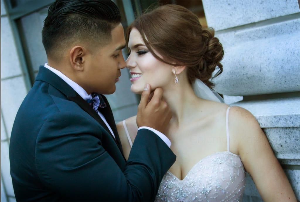 Elegant Grand America Wedding - Blush Wedding Dress Serencia by #MaggieSottero