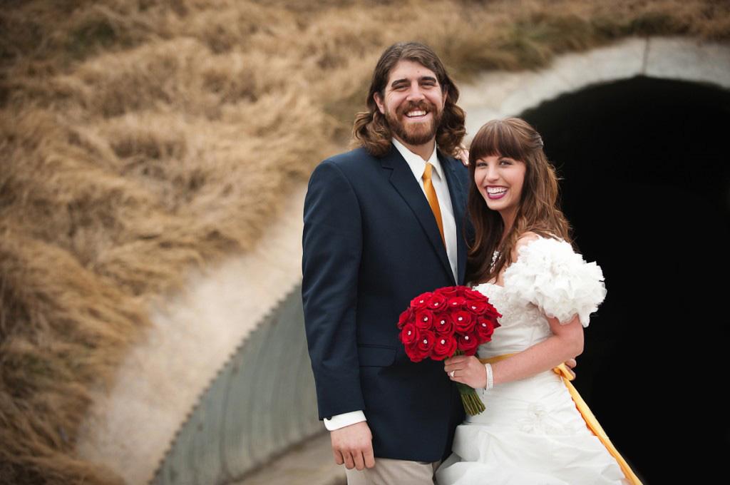 Real Bride and Groom at Princess Themed Wedding