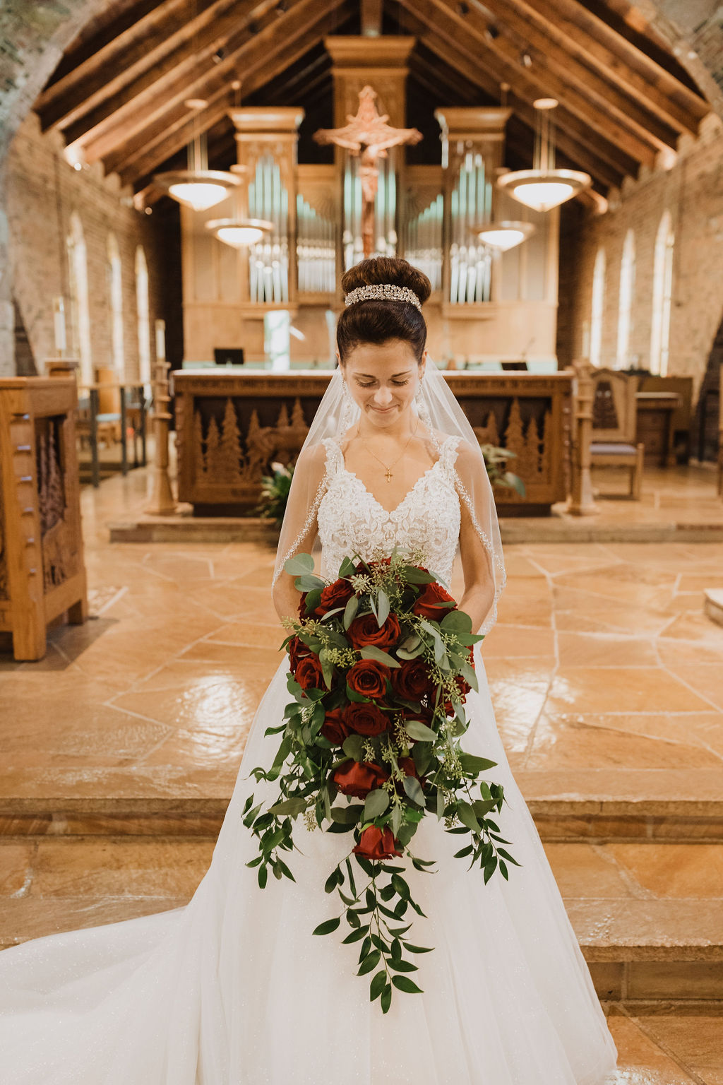 Real Bride Wearing Princess Wedding Dress Called Taylor Lynette by Maggie Sottero