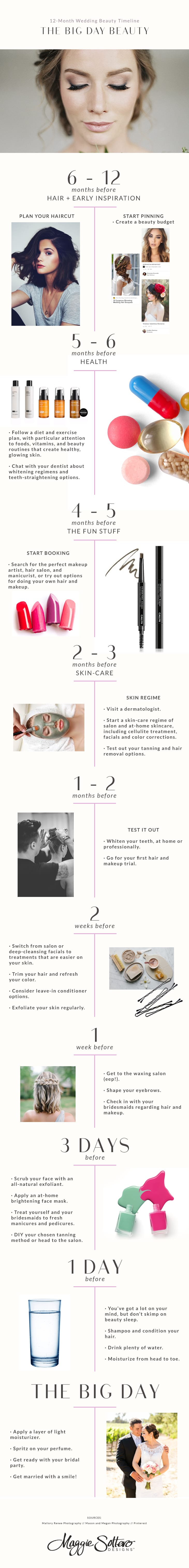 12 Month Pre-Wedding Beauty and Health Plan for Brides-to-Be!