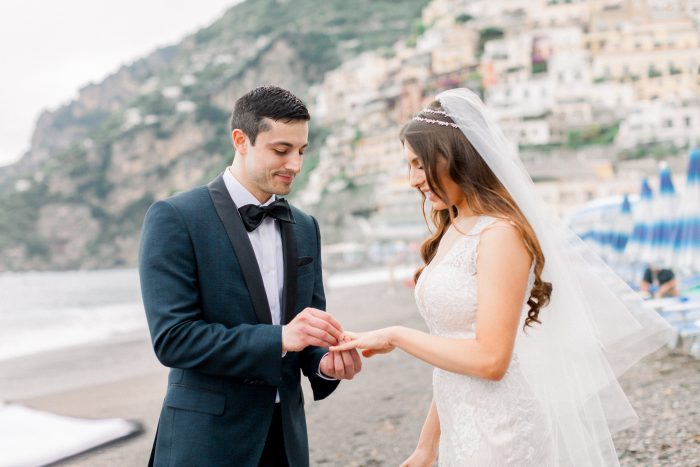 Real Couple Getting Married in Positano Italy for Romantic Destination Wedding