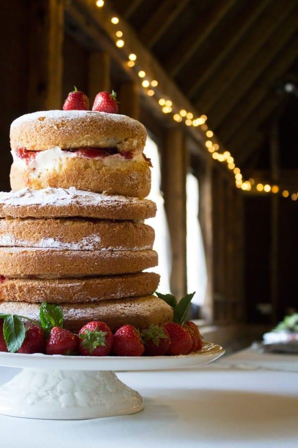 Wedding Cake at Barn Wedding in the UK