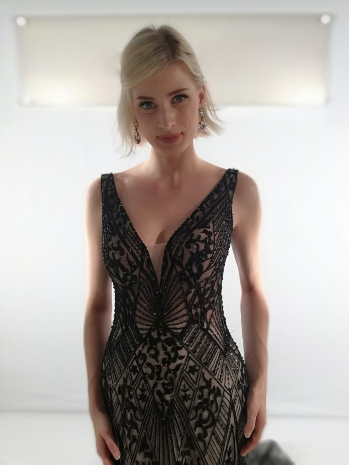 Elaine Black Lace Wedding Dress by Maggie Sottero