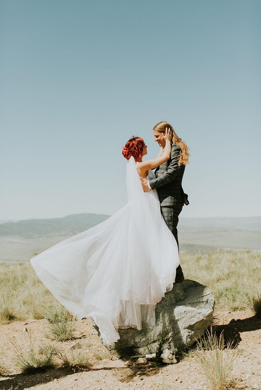 Magical Wedding in Utah: Maggie Bride wearing Phyllis by Maggie Sottero.
