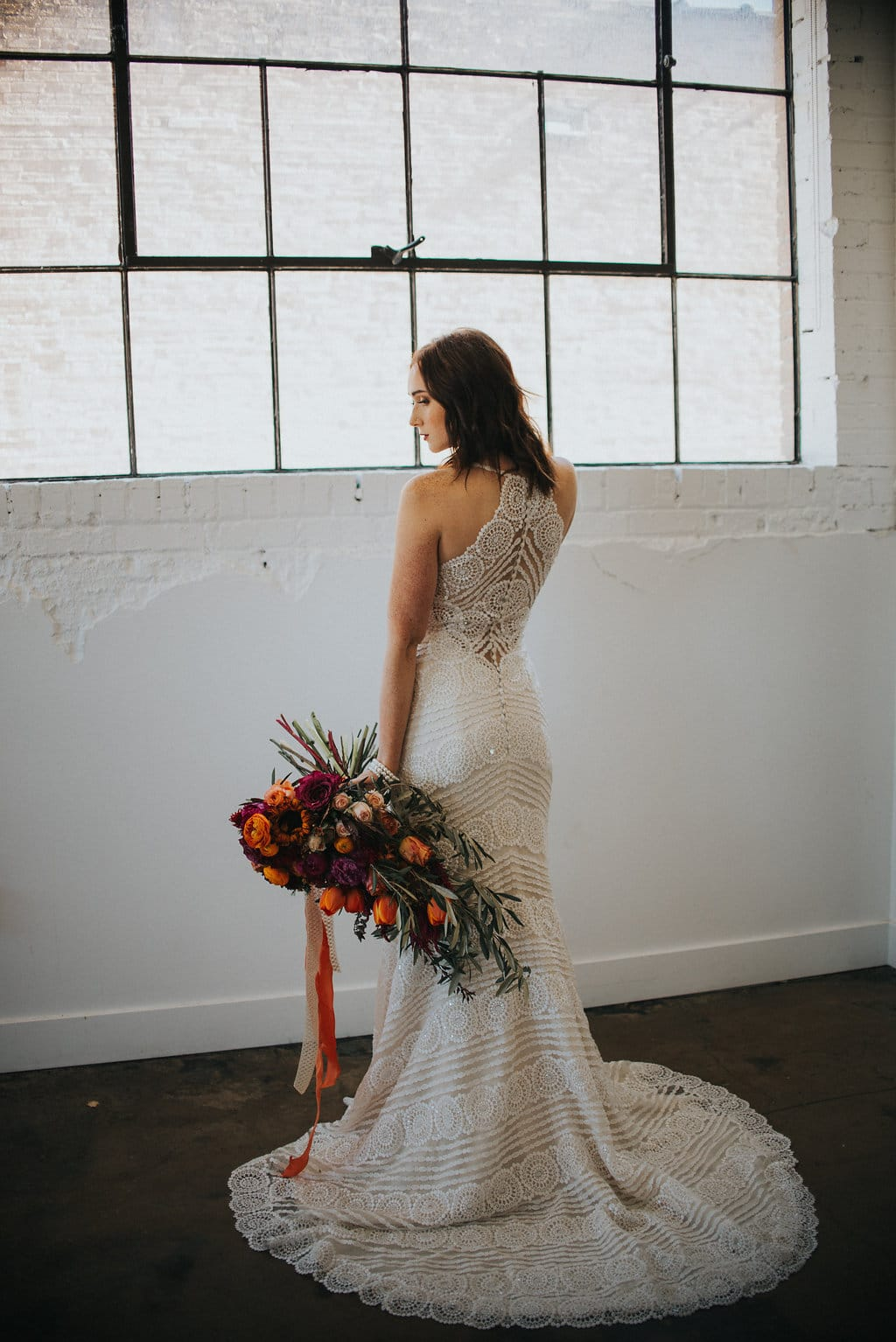 Lush Floral Palette with Unique Lace Wedding Dress - Styled Shoot featuring Bexley by Sottero and Midgley