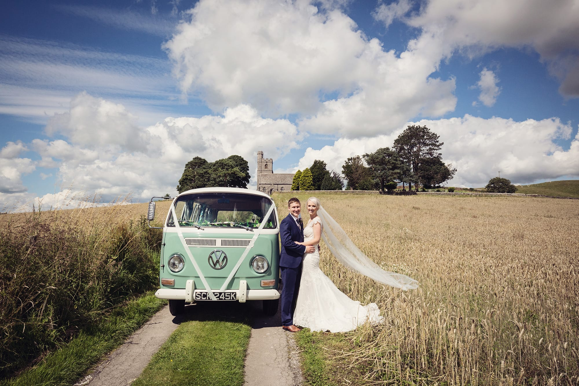 Sweet and Simple UK Wedding featuring Elison: Maggie Bride wearing Elison by Maggie Sottero.