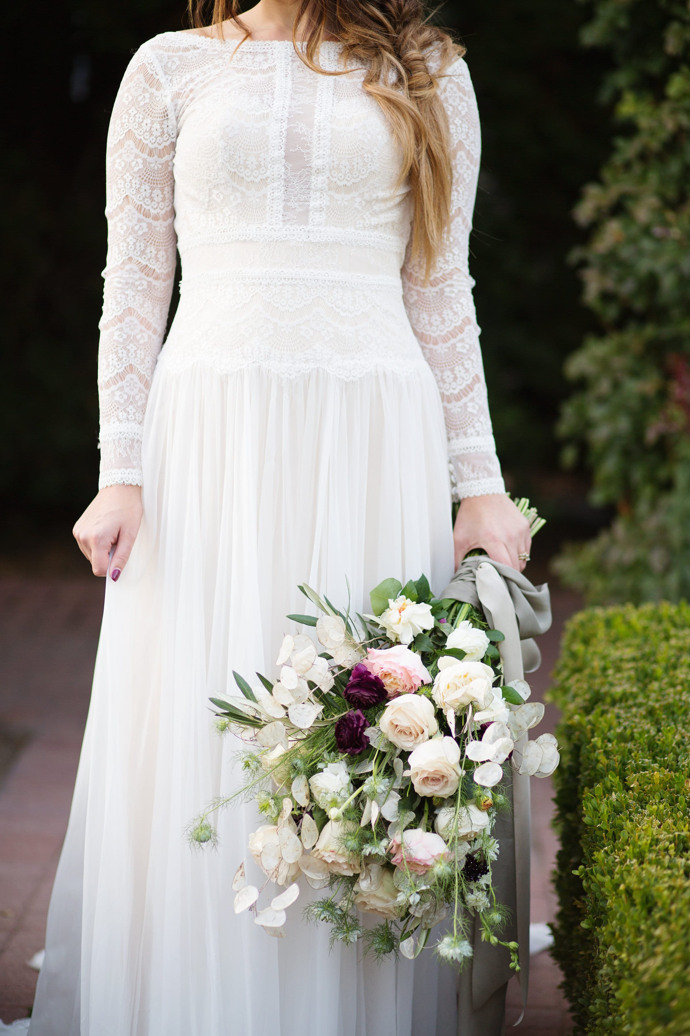 Illusion Lace Wedding Dress in English Garden Emilie Ann Photography - Styled Photo Shoot feat. Deirdre by Maggie Sottero