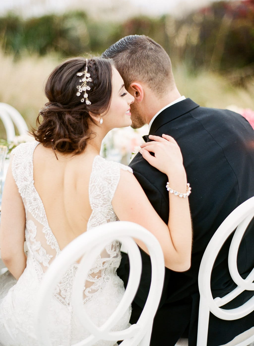 Cute Girl's Hairstyles - Half Updo + Lauren Jonas Styled Shoot featuring Elison Wedding Dress by Maggie Sottero
