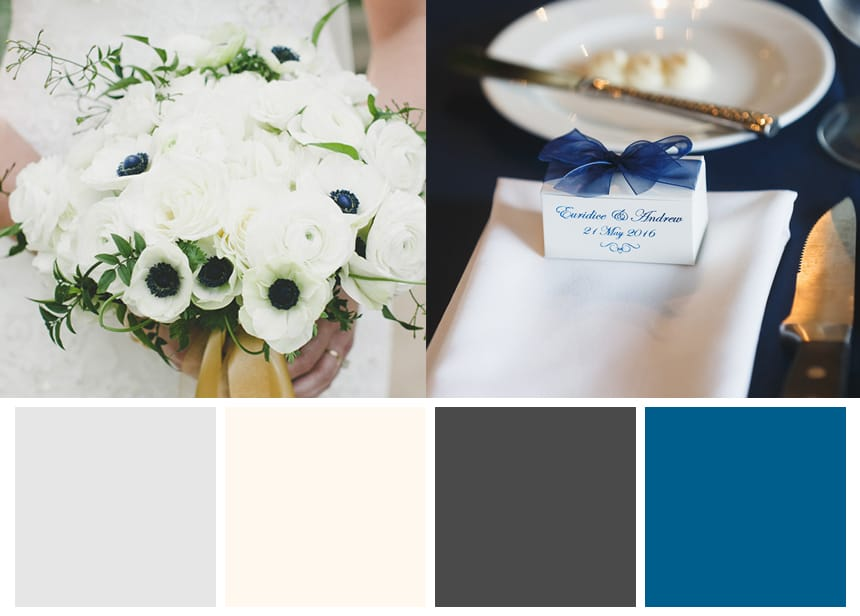 Nine Palettes for a Fall Wedding - Pure White and Dark Accents