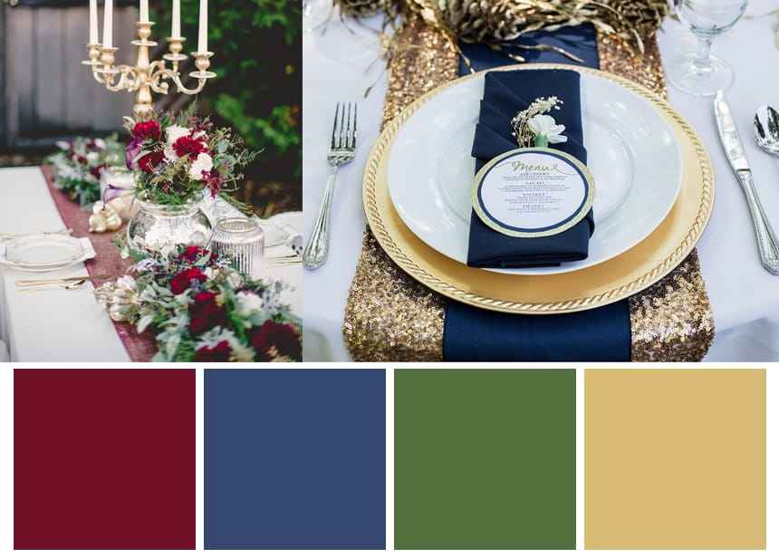 Nine Color Palettes for a Fall Wedding - Fall Harvest Colors