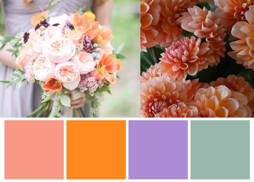 Nine Color Palettes for a Fall Wedding