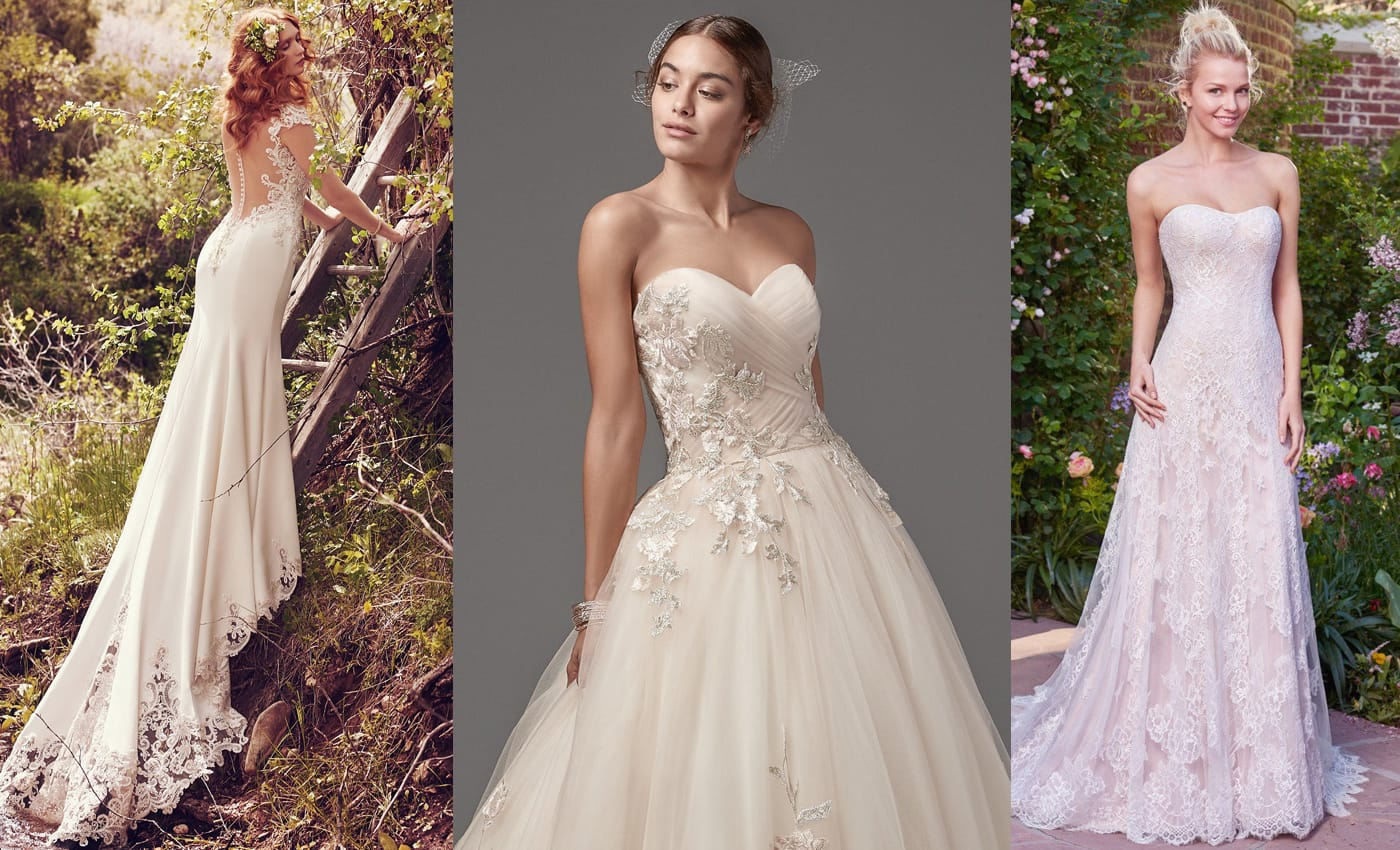 Gown Spotlights: Odette, Decadence and Mariah Wedding Dresses from Maggie Sottero Designs