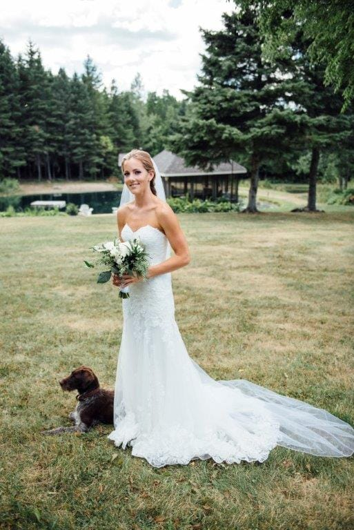 Gorgeous country wedding with enchanting details - Midgley Bride Markie wearing Marlow by Sottero and Midgley