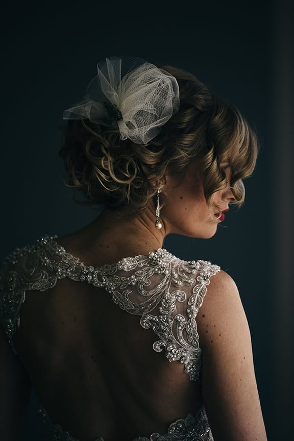 Jewel-tone Wedding with Americana Influences - Maggie Bride Korrin wearing Jade by Maggie Sottero