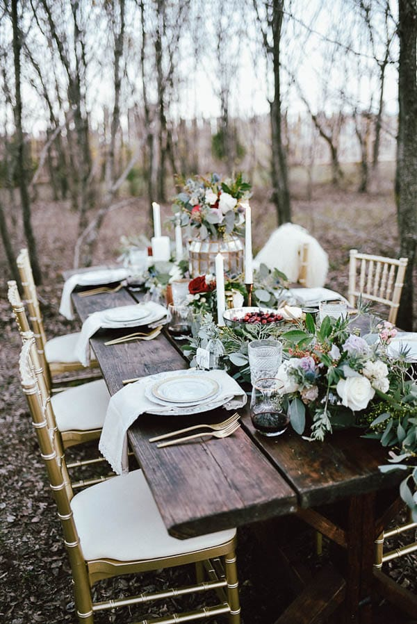 Off-Season Savings for the Winter Bride - Winter Bridesmaid Party from Junebug Weddings feat Caitlyn by Maggie Sottero