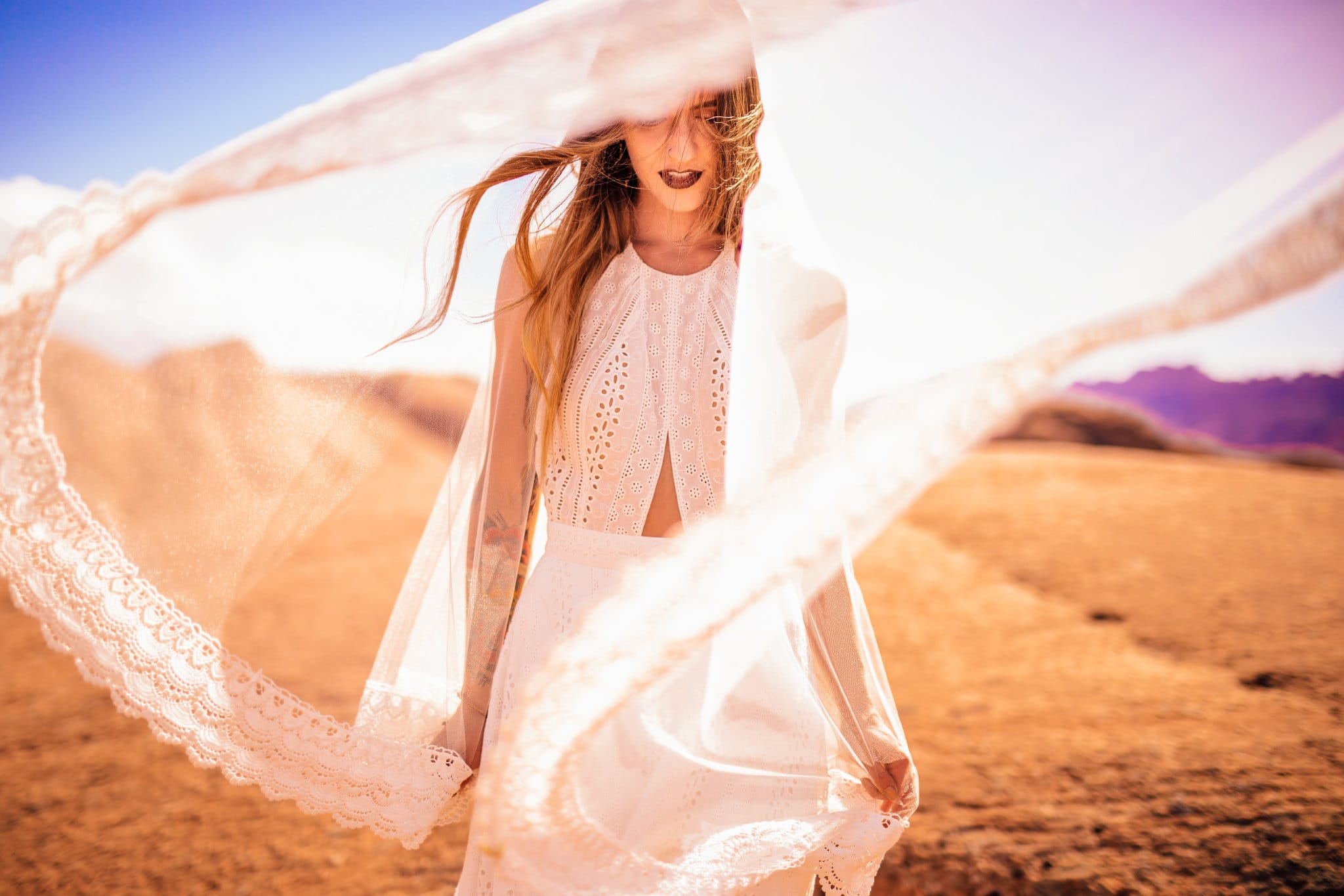 Magical Styled Shoot in the Desert featuring Nicole by Sottero and Midgley