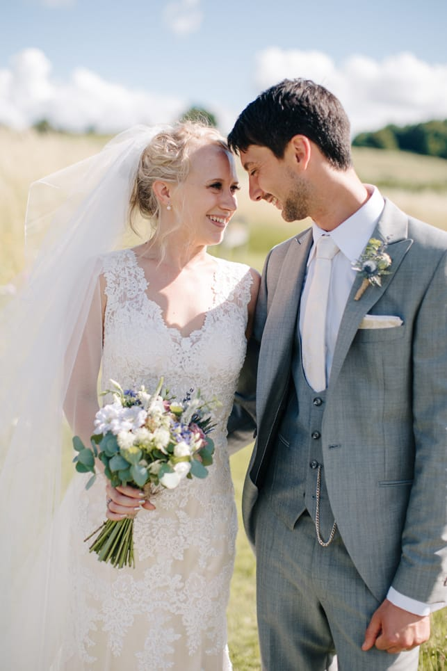 Miss Bush Bridal Blog for Wedding Inspiration - Maggie Bride Hannah wearing Melanie by Maggie Sottero