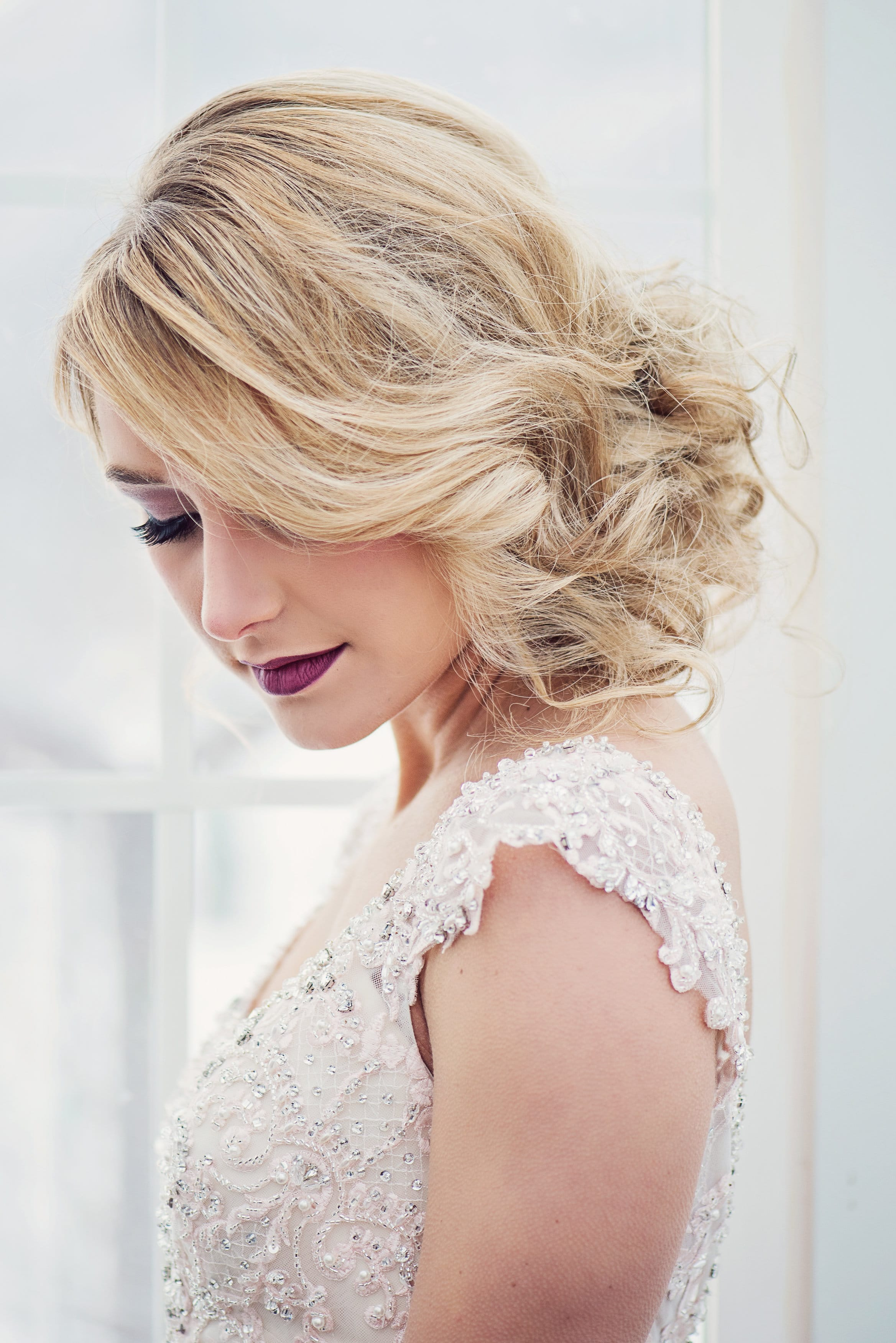Cute Girls' Hairstyles - Faux bob with Simone wedding dress by Sottero and Midgley