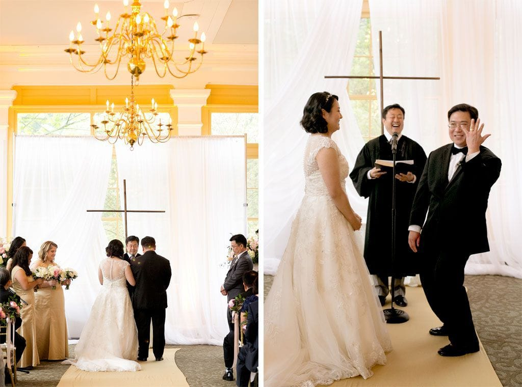 Jess and Gene's Unique Zoo Wedding - Maggie Bride is wearing Bellissima by Maggie Sottero