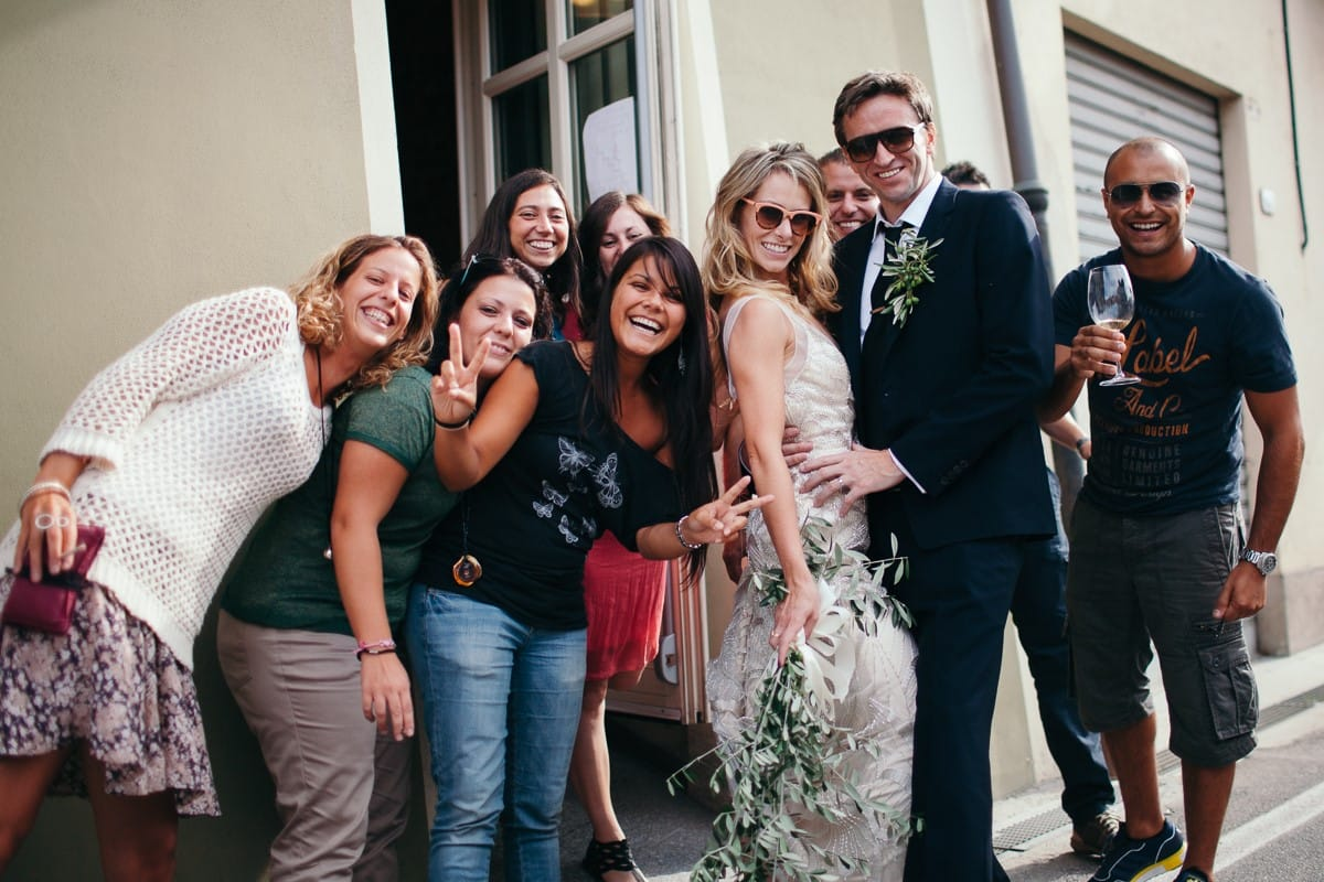 Super-Cool Italian Wedding with Vintage-Inspired Gown - Maggie Bride is wearing Gianna Marie by Maggie Sottero