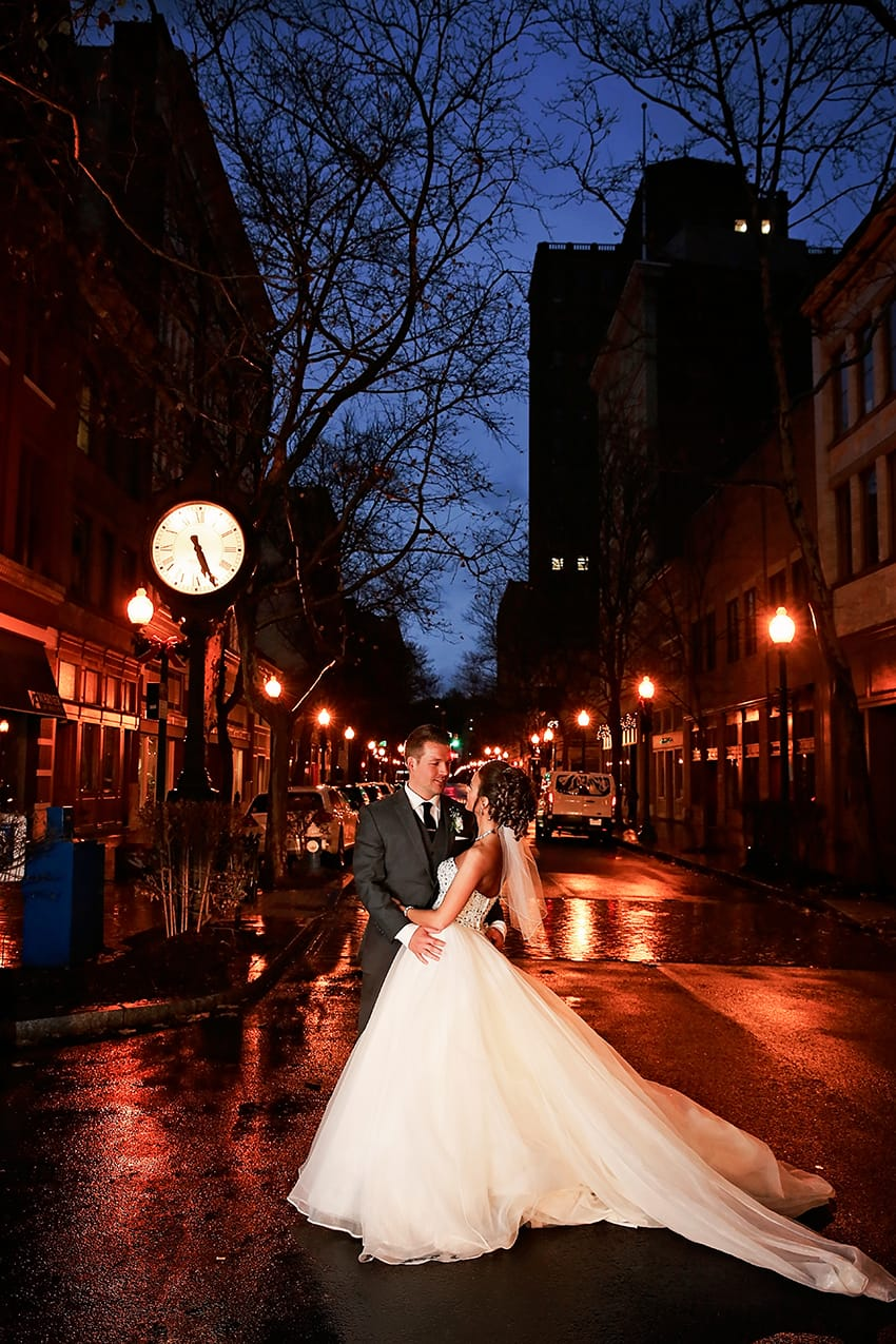 Princess Ballgown in Stately and Glamorous NYE Wedding - Maggie Bride is wearing Esme Marie by Maggie Sottero