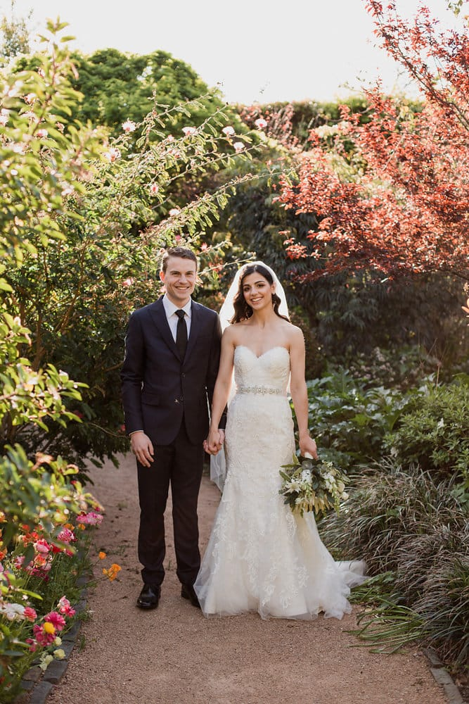 Rustic Yet Modern Garden Wedding Featuring Winstyn - Maggie Bride is wearing Winstyn by Maggie Sottero