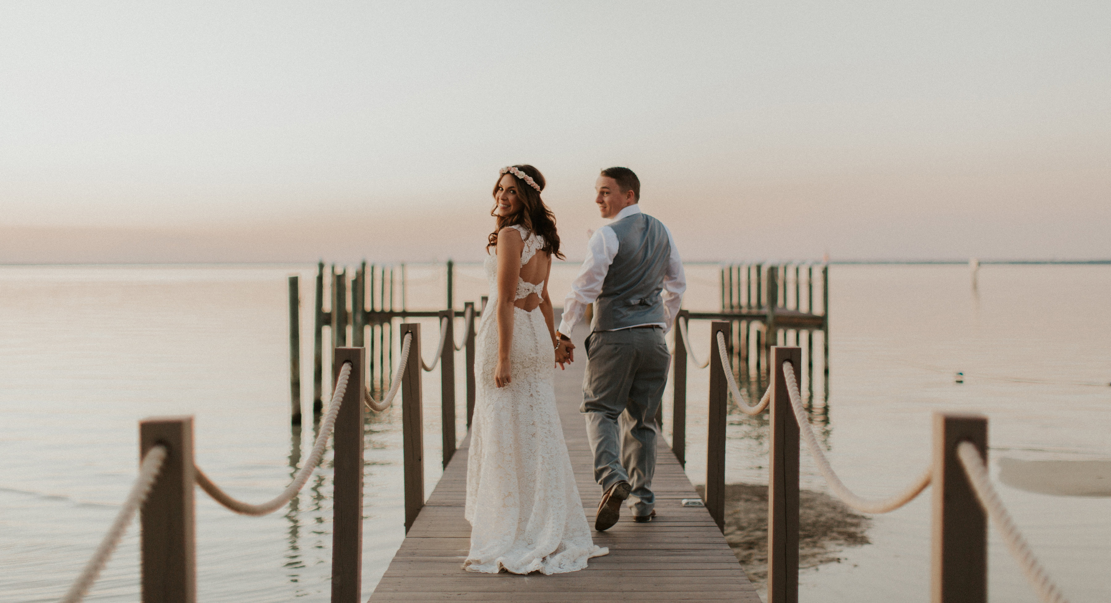 Bride Wearing Budget-Friendly Wedding Dress Called Hope by Rebecca Ingram