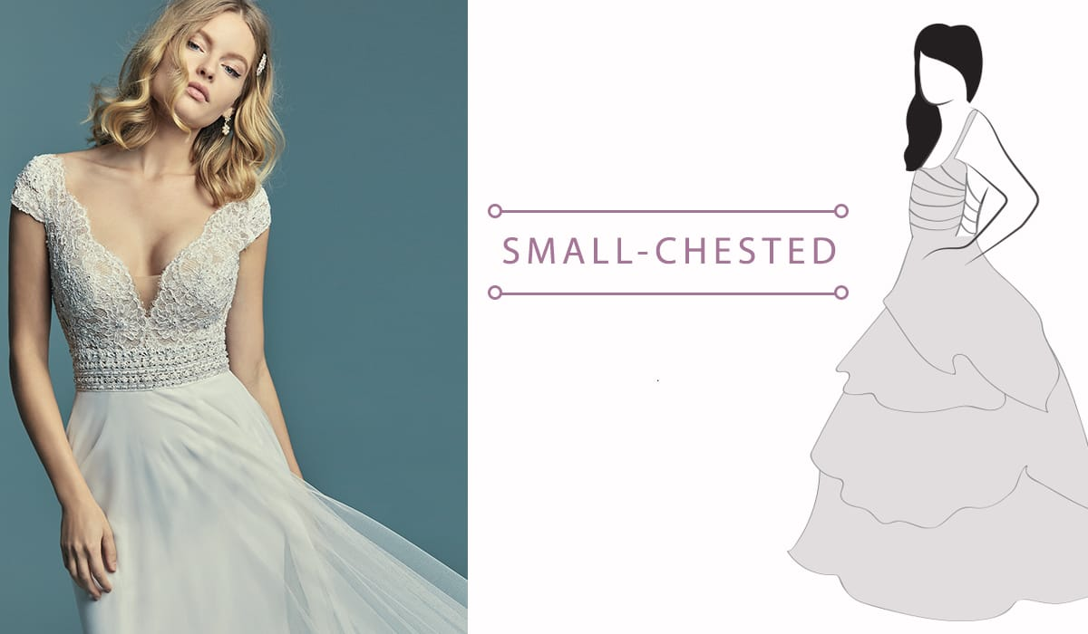 Finding the Perfect Dress for Your Body Type - Small-chested brides