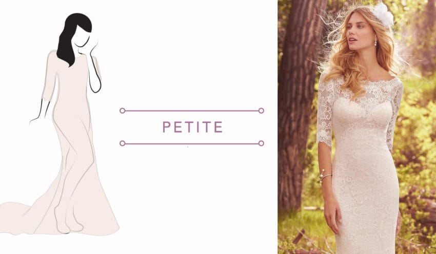 Wedding dresses for petite brides. Finding the Perfect Dress for Your Body Type.
