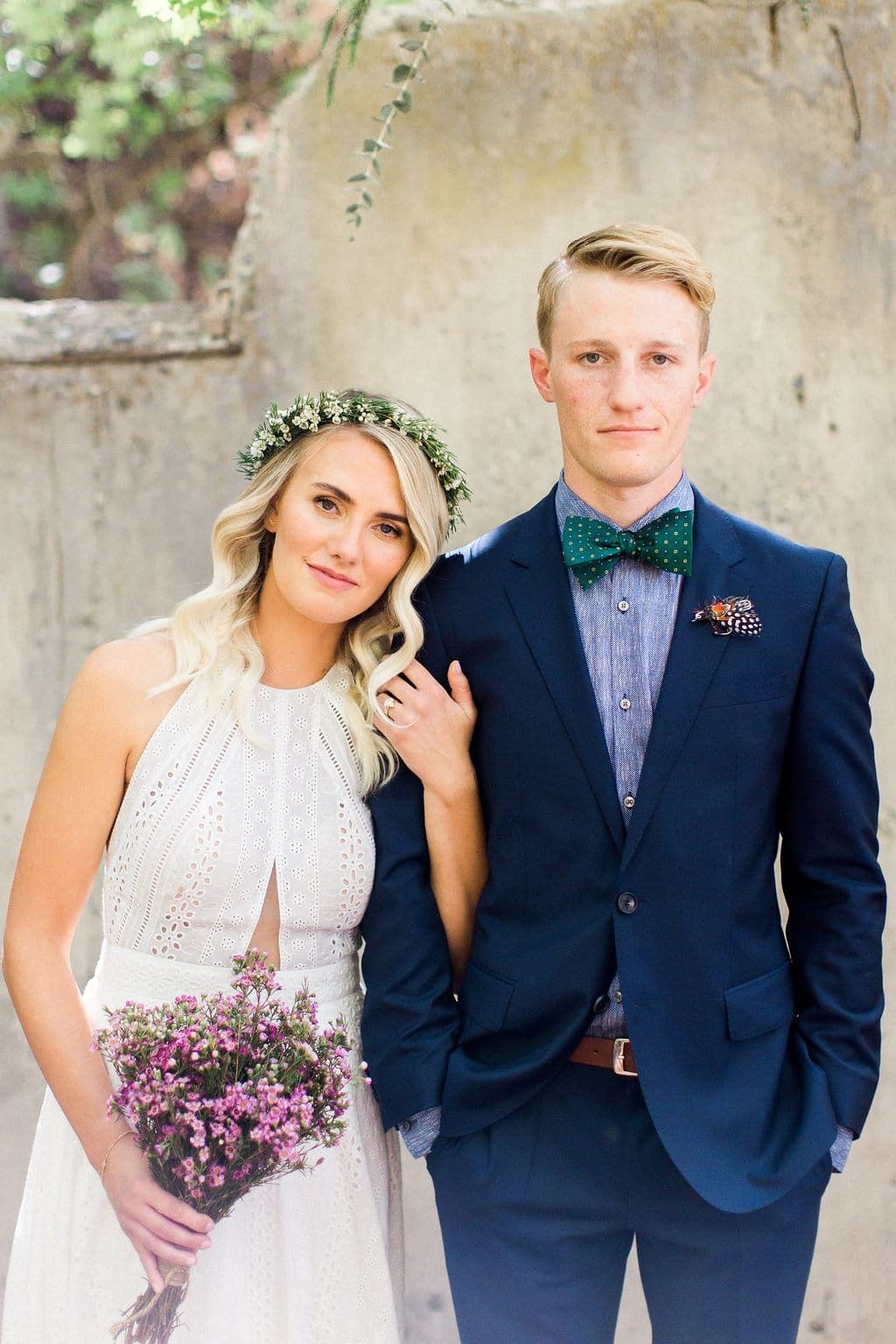 Eyelet Lace Wedding Gown in Utah Canyon Wedding - Midgley bride is wearing Nicole by Sottero and Midgley