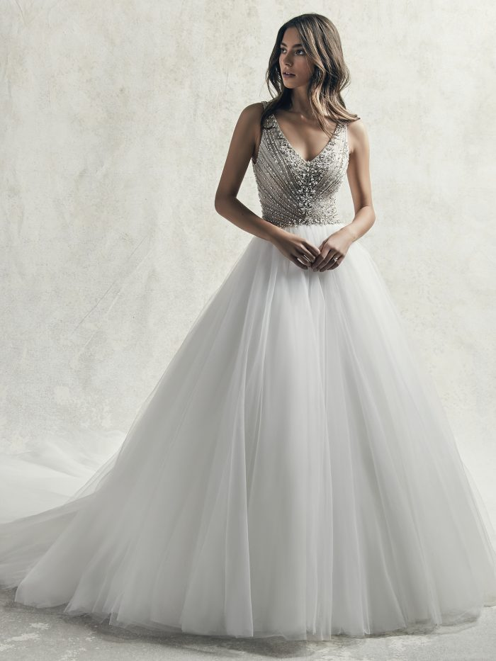 Gatsby-inspired Ball Gown Wedding Dress Called Bardot by Sottero and Midgley