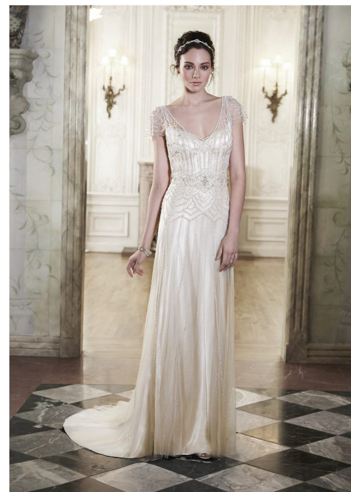 Vintage wedding dresses for The Great Gatsby Party Ettia by Maggie Sottero